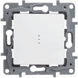 Выключатель/переключатель на два направления с подсветкой, 10A Legrand Etika (Белый)