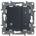Светорегулятор кнопочный 400Вт Legrand Etika (Антрацит)