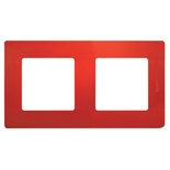 Рамка 2 пост Legrand Etika (Красный)