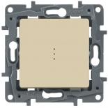 Выключатель/переключатель на два направления с подсветкой, 10A Legrand Etika (Сл. Кость)
