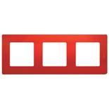 Рамка 3 пост Legrand Etika (Красный)