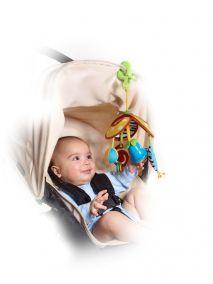 """Подвес на коляску """"Веселая карусель"""" - механический - комплектация travel,  Tiny love"""