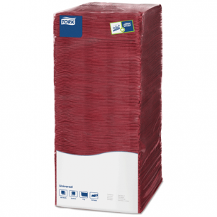 Салфетки TORK Big Pack, 25х25, 500шт., бордовые, ш/к 68133, АРТ.478669
