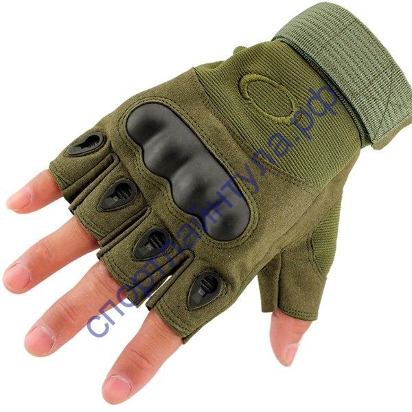 Перчатки Oakley без пальцев олива