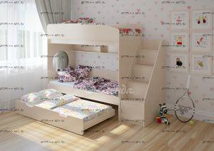 Кровать трехъярусная Легенда-10.5