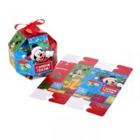 """Коробка складная """"Счастья!"""", Микки Маус и его друзья, 10 х10x 10 см"""