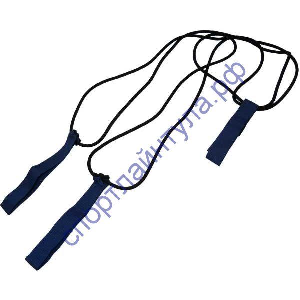 Эспандер лыжника (боксёра) максимальной упругости, удлинённый с лямками для рук 03-27