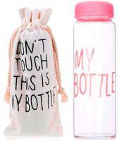 My Bottle 500 мл с мешочком - розовая