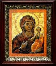 Влахернская икона БМ (19х22), темный киот