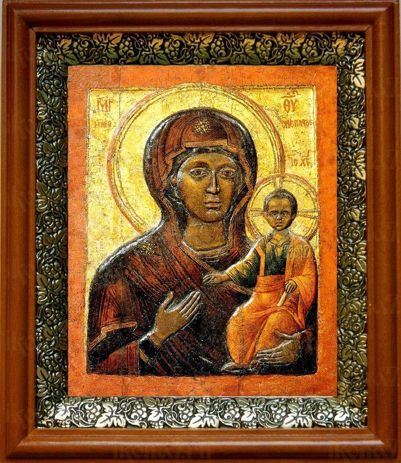 Влахернская икона БМ (19х22), светлый киот