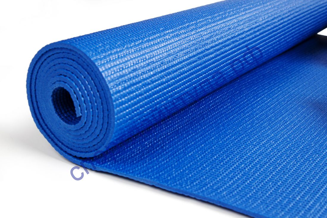 Коврик гимн. для йоги и фитнеса Sportsteel арт 1231-20 ПВХ, 173х61х0,4мм нескольз. поверхность