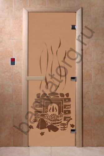 Дверь для бани DoorWood Банька Бронза матовая