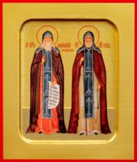 Икона Амфилохий и Иов Почаевские (рукописная)