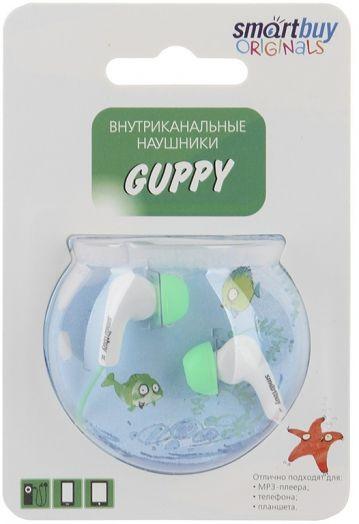 Наушники проводные пассивные SmartBuy GUPPY, зеленые
