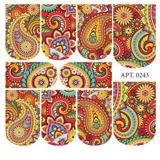 Слайдер-дизайн для ногтей № 0243