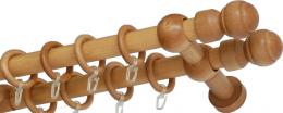 """Карниз деревянный двухрядный ДК """"Идея"""" дуб"""