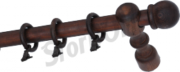 Карниз деревянный ДК 11 мокко