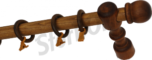Карниз деревянный ДК 11 рустикальный дуб