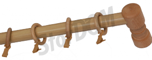Карниз деревянный ДК 14 сосна