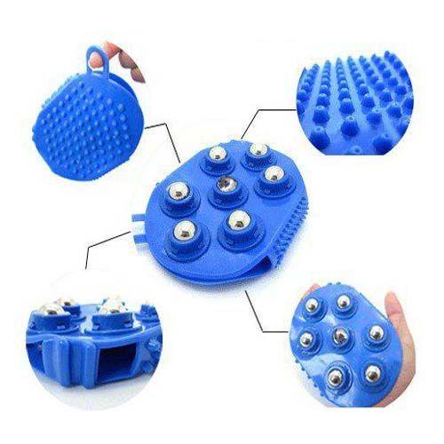 Антицеллюлитная варежка Bath Mitt с массажными шариками