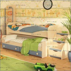 Кровать двухъярусная Немо выдвижная