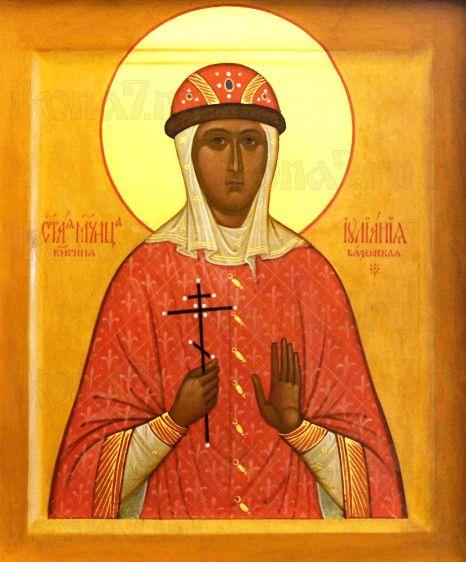 Иулиания Вяземская (рукописная икона)