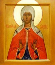 Икона Иулиания Лазаревская (рукописная)