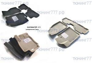 Коврики в салон, Euromat 3D Люкс, 3 цвета велюра