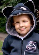 детская толстовка с меховым капюшоном