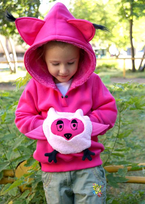 Розовая толстовка Совенок