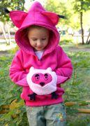Розовая толстовка Сова