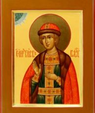 Глеб Владимирский (рукописная икона)