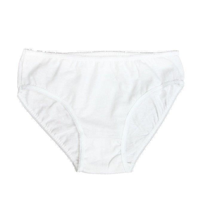 Классические белые трусики для девочки