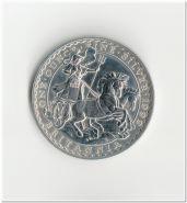 Британия 2 фунта 1999 UNC серебро, капсула