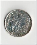 2 фунта Великобритания 2003 года Голова Британии, серебро, капсула