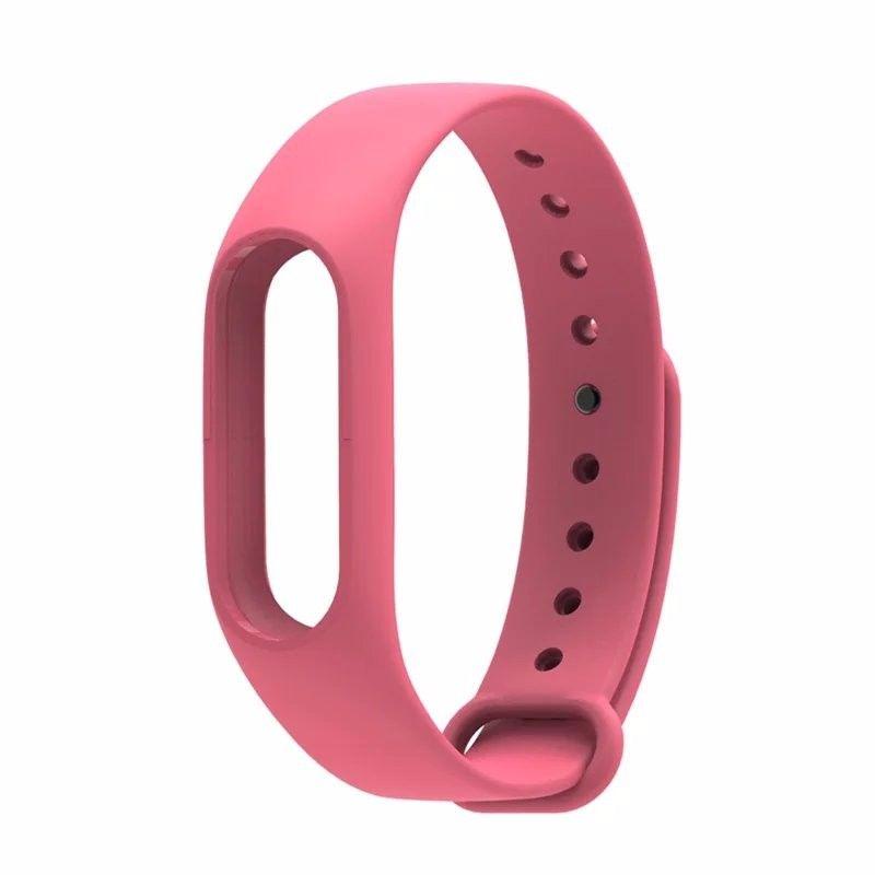 Силиконовый ремешок для Xiaomi Mi Band 2(Розовый)
