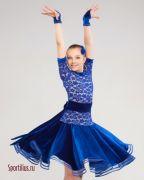 синее платье для выступления Белиссимо