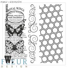 Набор штампов Винтаж с бабочками