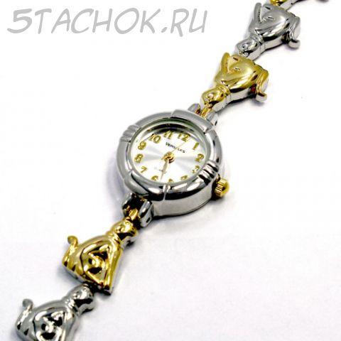 "Часы женские ""Кошки фараона"" (на браслете)"