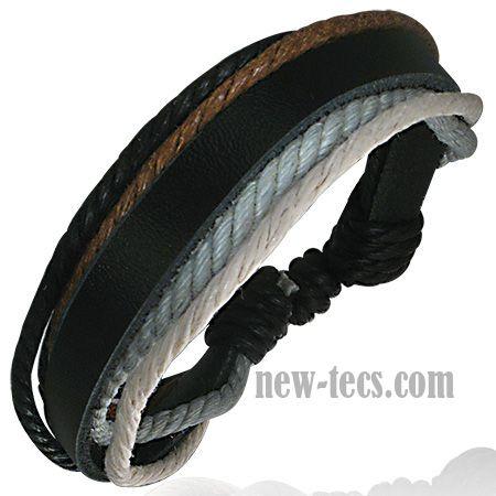 Кожаный браслет на руку