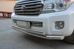 Защита переднего бампера 76/75 мм для Toyota Land Cruiser 200 2012