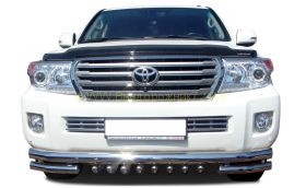 Защита переднего бампера 60/60 мм для Toyota Land Cruiser 200 2012