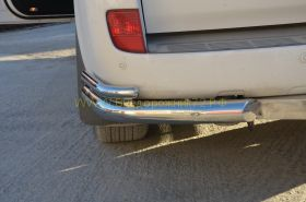 Защита заднего бампера 76/42 мм для Toyota Land Cruiser 200 2012