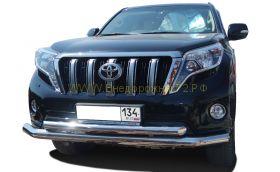 Защита переднего бампера 76/60 мм для Toyota Land Cruiser Prado 150 2013 -