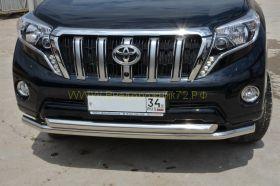 Защита переднего бампера 60/60 мм для Toyota Land Cruiser Prado 150 2013 -