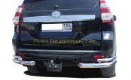 Защита заднего бампера 76х42 мм  для Toyota Land Cruiser Prado 150 2013 -