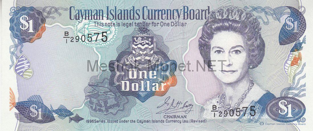 Банкнота Каймановы острова 1 доллар 1996 года