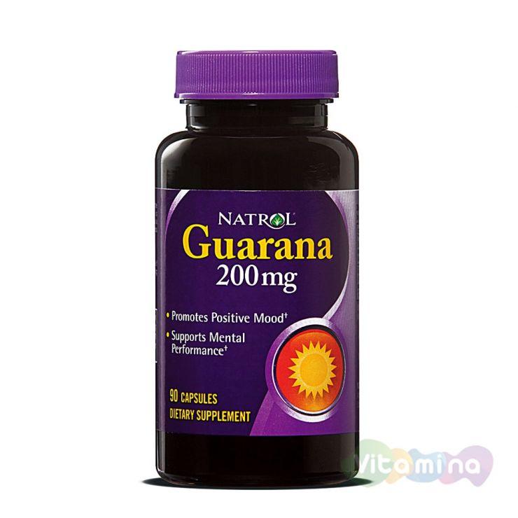 Natrol Гуарана Guarana, 90 капс