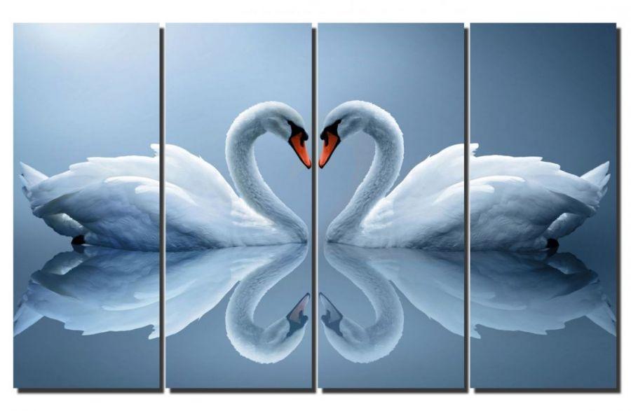 Модульная картина Лебеди