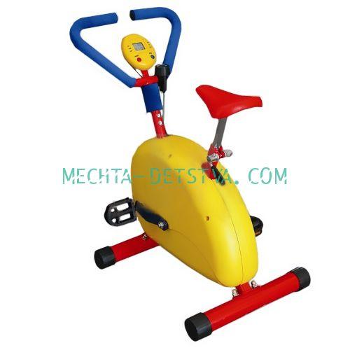 Тренажер детский механический «Велотренажер» с компьютером